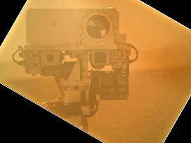 Серия снимков с марсохода Curiosity