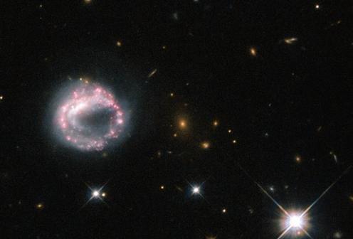 Странная галактика навылет